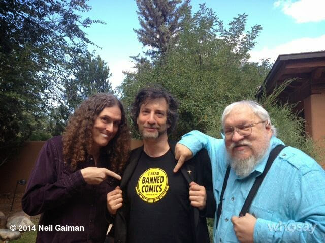 Weird Al, Neil Gaiman, AND George R.R. Martin? Oh yeah ... that's the sweet spot. (Photo shamelessly borrowed from Neil Gaiman)