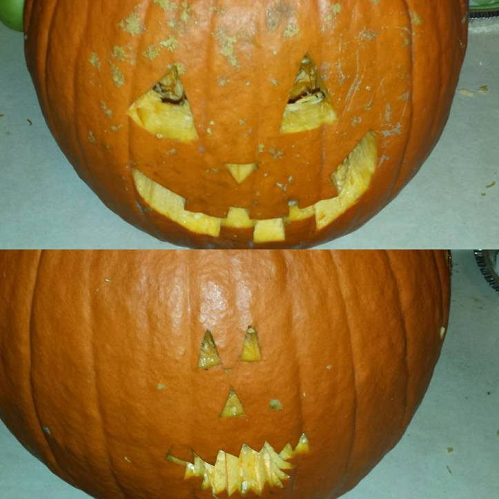 The teeth were more menacing, but I am not the shit when it comes to carving